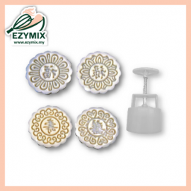 image of EzyMix 100gm 4pcs RD Mooncake Mould (18-100R/4A)