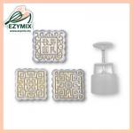 EzyMix 125gm 3pcs SQ Mooncake Mould (18-125SQ/3A)