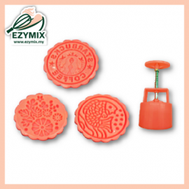 image of EzyMix 125gm 3pcs RD Mooncake Mould (18-125R/3E)