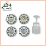 EzyMix 63gm 4pcs RD Mooncake MOuld (18-63R/4D)