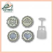 image of EzyMix 63gm 4pcs RD Mooncake MOuld (18-63R/4D)