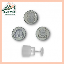 image of EzyMix 125gm 3pcs RDMooncake Mould (18-125R/3H)