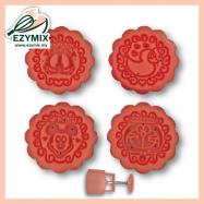 image of EzyMix 50gm 4pcs RD Mooncake Mould (18-50R/4L)