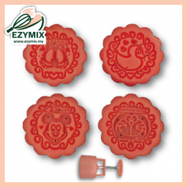 image of EzyMix 50gm 4pcs RD Mooncake Mould (18-50R/4L)