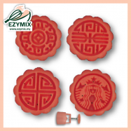 image of EzyMix 50gm 4pcs RD Mooncake Mould (18-50R/4E)