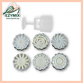 image of EzyMix 50gm 6pcs RD Mooncake Mould (18-50R/6I)