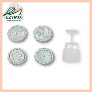 image of EzyMix 50gm 4pcs RD Mooncake Mould (18-50R/4J)