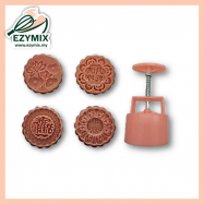 image of EzyMix 125gm 4pcs RD Mooncake Mould (18-125R/4R)