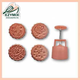 image of EzyMix 125gm 4pcs RD Mooncake Mould (18-125R/4P)