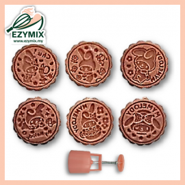 image of EzyMix 125g 6Pcs RD Mooncake Mould (18-125R/6D)
