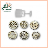image of EzyMix 50gm 6pcs RD Mooncake Mould (18-50R/6H)