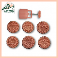 image of EzyMix 125gm 6pcs RD Mooncake Mould (18-125R/6C)