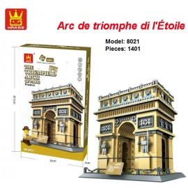 image of Wange 8021 PARIS RRIUMPHAL ARCH Structure Building Blocks Set  1401PCS