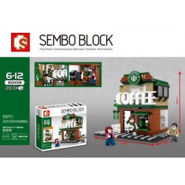 image of SEMBO BLOCK 601019 STARBUCKS COFFEE 283 pcs