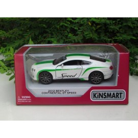 image of Kinsmart 1:38 Die-cast 2012 Bentley Continental GT Speed Printing Car Model with Box