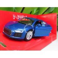 image of Welly 1:34-1:39 Die-cast 2016 Audi R8 V10 Car Blue Color Model Collection