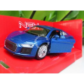 image of Welly 1:34-1:39 Die-cast 2016 Audi R8 V10 Car Blue Color Model Collection