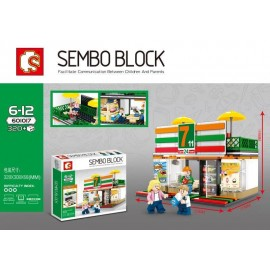 image of SEMBO BLOCK 601017 7-11 Seven Eleven Shop 320 pcs