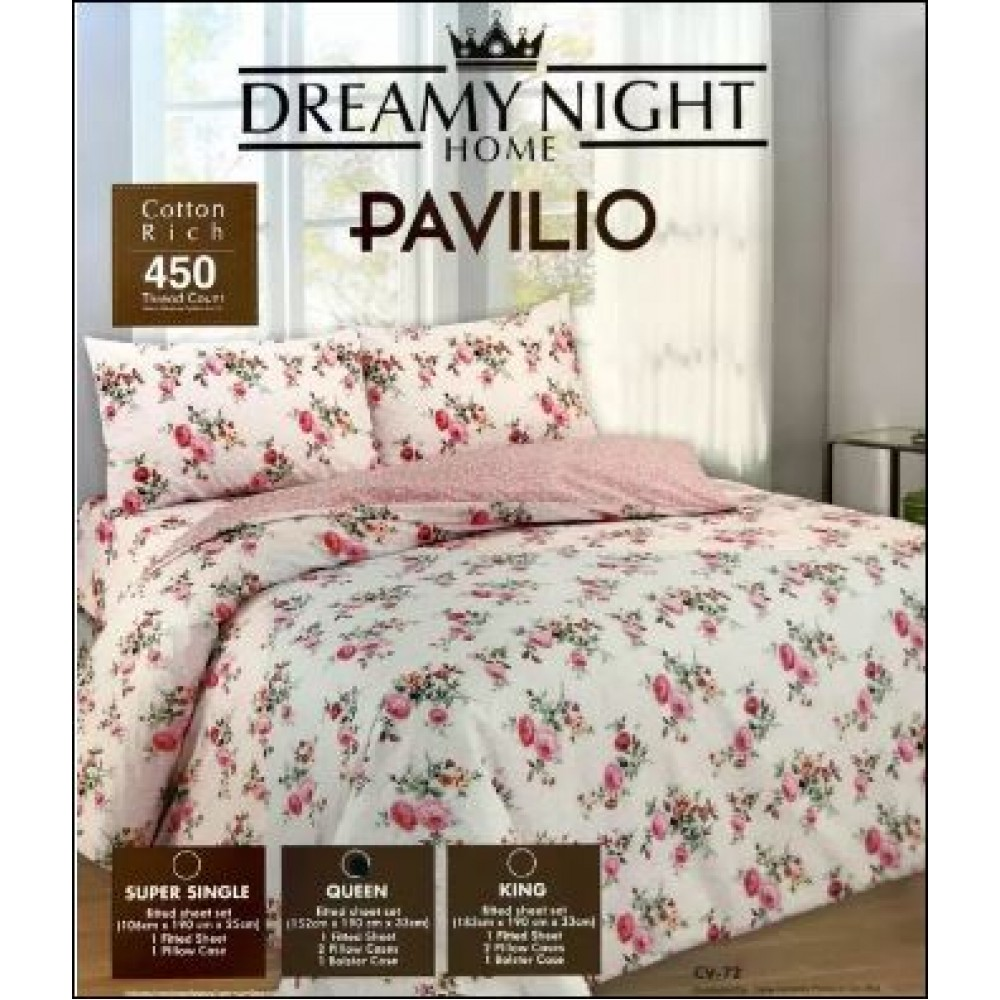 PAVILIO COTTON RICH FITTED SET KING/QUEEN/SUPER SINGLE