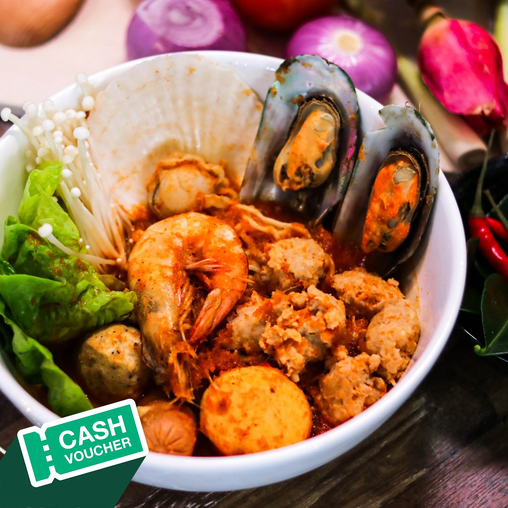 RM 30  Cash Voucher for Tomyum Noodle + Free two (2) drinks