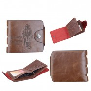image of Men's Fashion PU Leather Classic Style Short Wallet