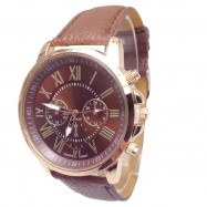 image of Geneva Women's Leather Quartz Watch (10 Colors)