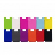 image of High Grade Silicone Phone Card Holder With 3M Sticker