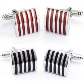 image of Cindiry Silver Plated Non Rusting Shirt Cufflinks (1 Pair)
