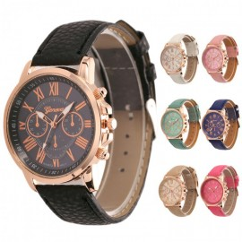 image of Geneva Women's PU Leather Watch
