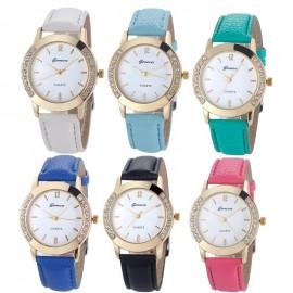 image of Geneva Diamond Stainless Steel Quartz Elegant Women's Fashion Watch