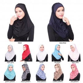 image of Fashion Muslim Women's Tudung Sarung / Shawl Headscarf Chiffon