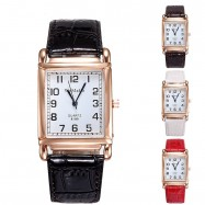image of WoMaGe Women's Stainless Steel Fashion Leather Band Women's Watch