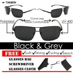 Tagion Men's Elegant Fashion Polarized Sunglasses