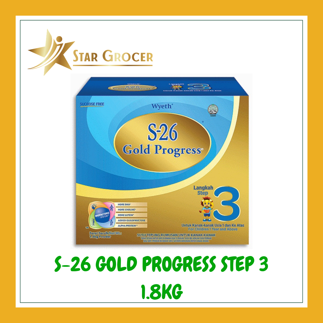 S26 Gold Progress - 600g / 900g / *1.8kg Free Brilliant Kids Educational Toy*