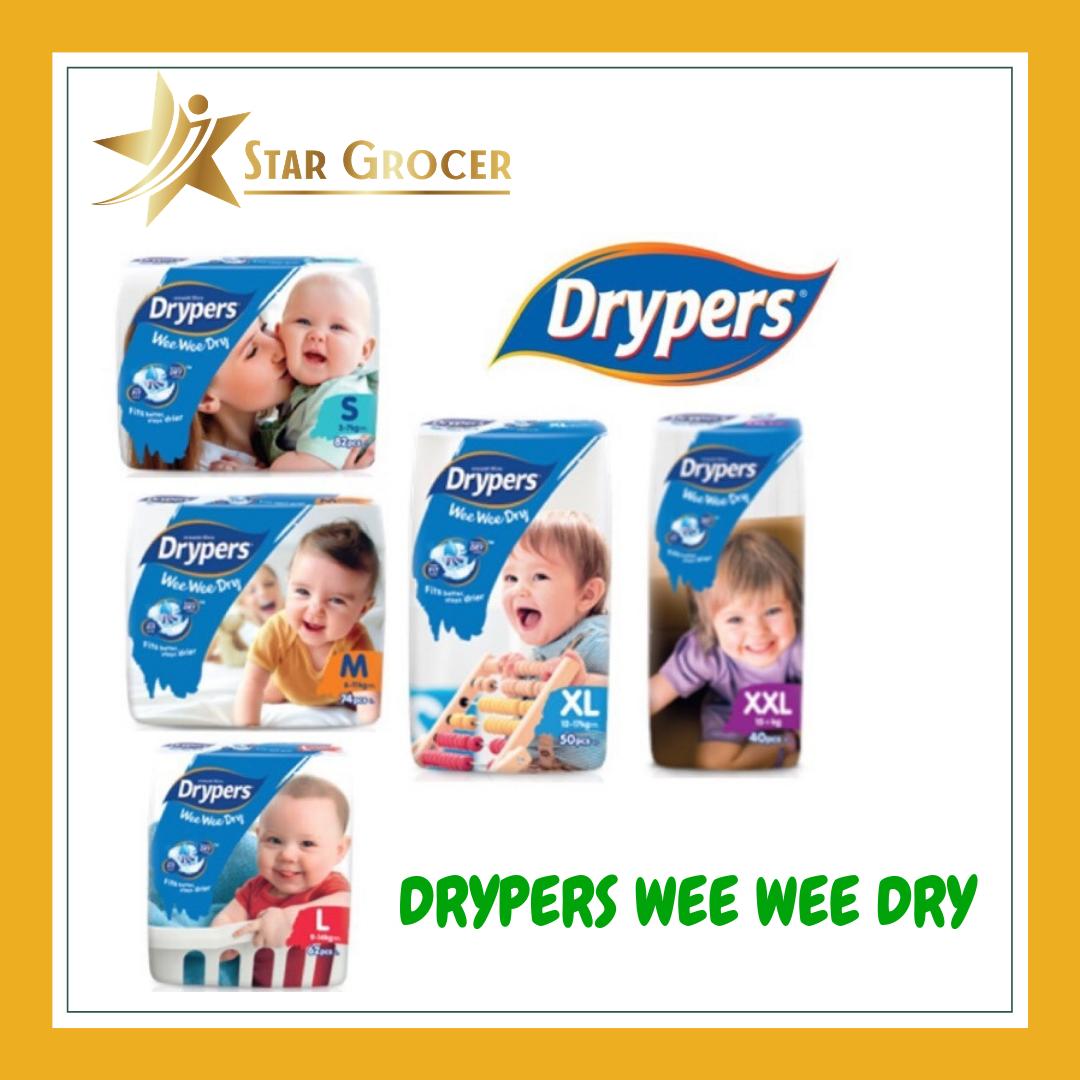 Drypers Wee Wee Dry  - S / M / L / XL / XXL