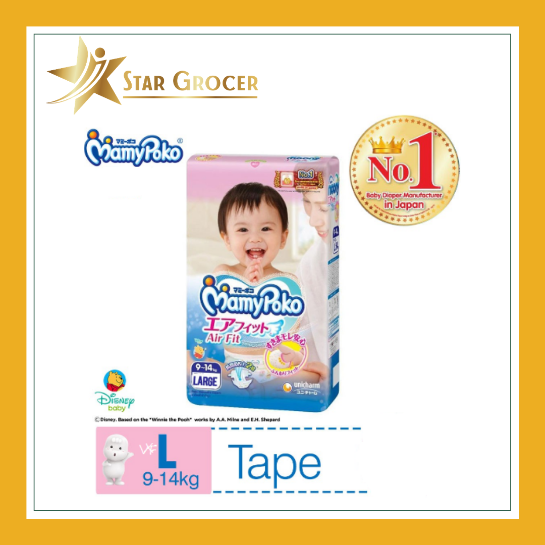 MamyPoko Airfit Tape Diapers - NB / S / M / L / XL