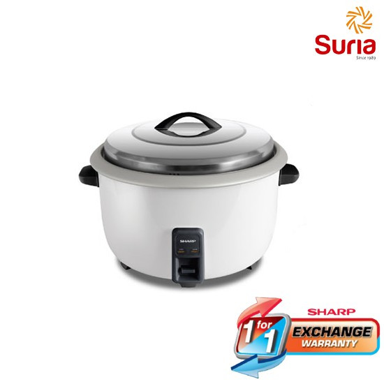 image of SHARP 6.6L STAINLESS STEEL LID NON-STICK RICE COOKER SHA-KSH668CWH