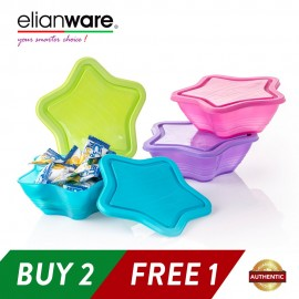 image of Elianware Star Bowl Multipurpose Air Tight Container (500ml X 3)