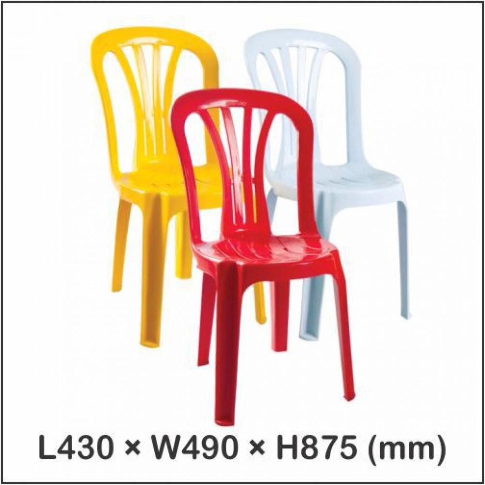 Twins Dolphin Armless Chair / Dinner Chair / Restaurant Chair 2003 (6pcs)