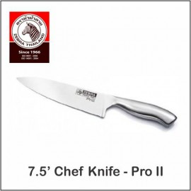 "image of (100% Original) Zebra Stainless Steel 7.5"" Chef Knife - Pro II"