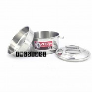 image of (100% Original) Zebra Stainless Steel 14cm Round Lunch Box With Inner Tray