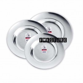 "image of (100% Original) Zebra Stainless Steel 4pcs Deep Plate (7"" / 8"" / 9"")"
