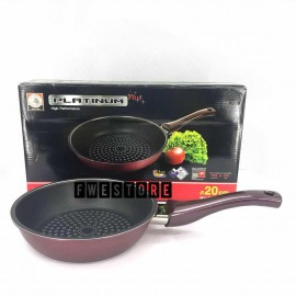 image of (100% Original) Zebra Stainless Steel Non Stick Fry Pan - Platinum Plus