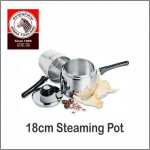 (100% Original) Zebra Stainless Steel 18cm Steaming Pot