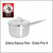 image of (100% Original) Zebra Stainless Steel Sauce Pan - Estio Pro II (16/18cm)