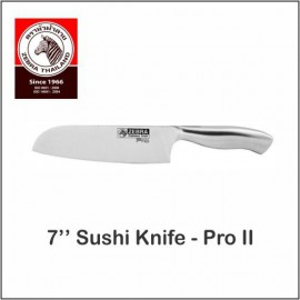 "image of (100% Original) Zebra Stainless Steel 7"" Sushi Knife - Pro II"