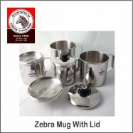 image of (100% Original) Zebra Stainless Steel Mug With Lid (9/10/11/12/14cm)