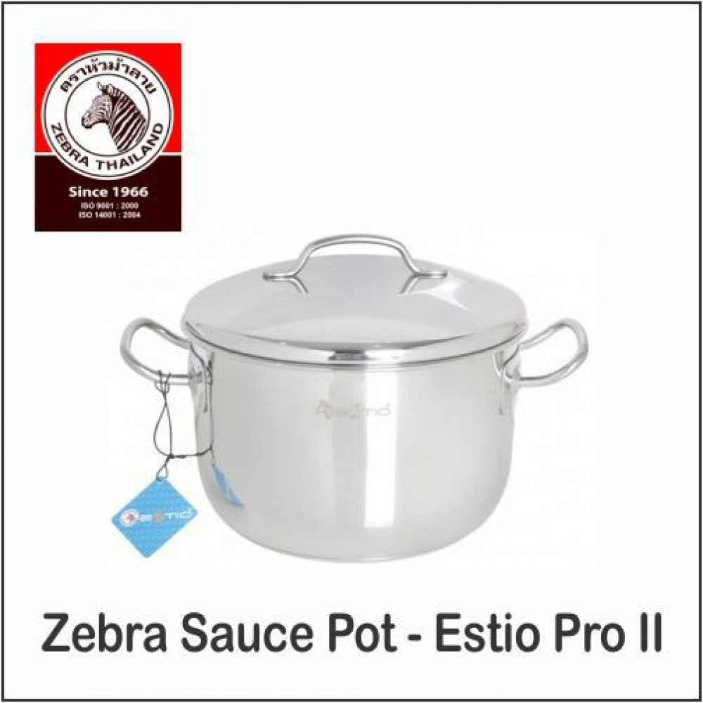 (100% Original) Zebra Stainless Steel Sauce Pot - Estio Pro II (18/20/22/24cm)