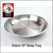 "image of (100% Original) Zebra Stainless Steel 10"" Deep Tray"