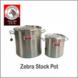 image of (100% Original) Zebra Stainless Steel Stock Pot (26/28/32/40cm)